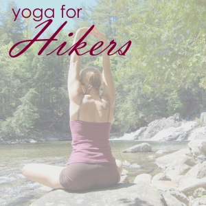 Shoulder stretch yoga at the trailhead